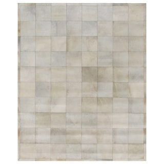 Exquisite Rugs Natural Ivory Leather Hair-on-hide Rug (13'6 x 17'6) - 13'6 x 17'6