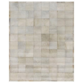Exquisite Rugs Natural Ivory Leather Hair-on-hide Rug - 13'6 x 17'6
