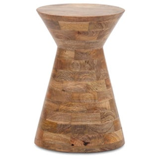 Mesmerizing Round Stool with Joint Wood Work