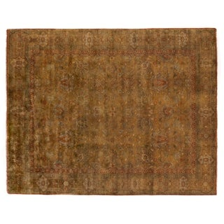Mohajeran Light Gold New Zealand Wool Rug (12' x 15')