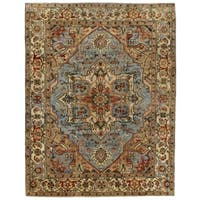 Exquisite Rugs Serapi Light Blue / Ivory New Zealand Wool Rug (12' x 15')