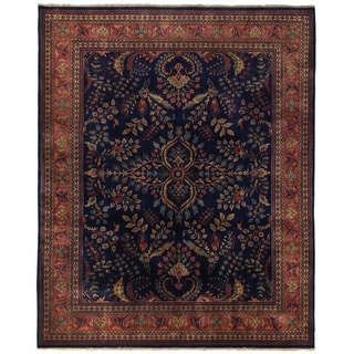 Sarouk Blue / Red New Zealand Wool Rug (12' x 15')