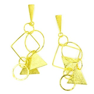Betty Carre 18k Gold Overlay Geometrical Earrings