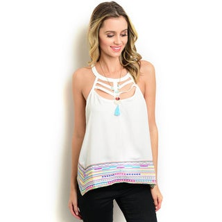 Shop the Trends Juniors Sleeveless Woven Top