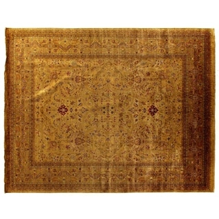 Exquisite Rugs European Polonaise Sage / Multi New Zealand Wool Rug (14' x 18')