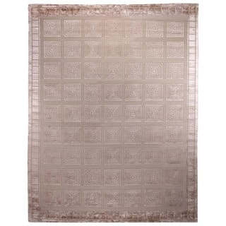 Exquisite Rugs Milano Beige New Zealand Wool and Silk Rug (14' x 18')