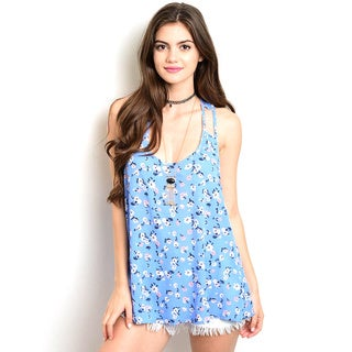 Shop the Trends Women's Junior Sleeveless Woven Top