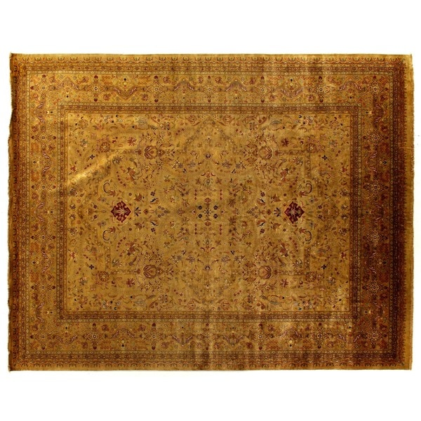 Exquisite Rugs European Polonaise Sage / Multi New Zealand Wool Rug (12' x 18')