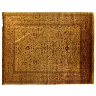 European Polonaise Sage / Multicolored New Zealand Wool Rug (12' x 18')