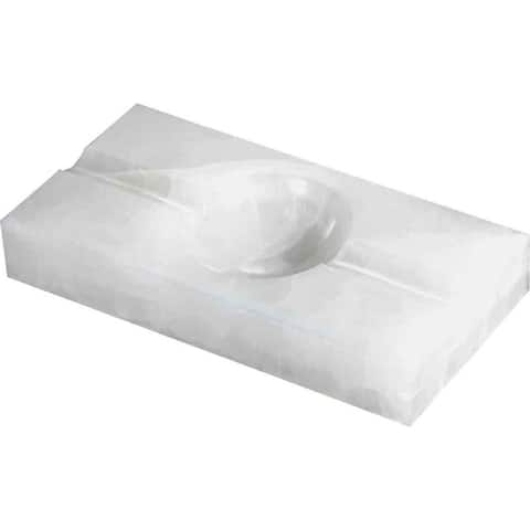 Visol Azure White Rectangle Onyx Stone Cigar Ashtray with 2 Cigar Rests