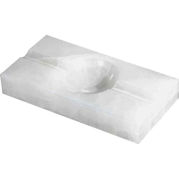 Visol Azure White Rectangle Onyx Stone Cigar Ashtray with 2 Cigar Rests