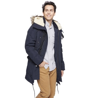 Lucky Brand Men's Faux Fur Hood Jacket