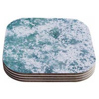 Will Wild 'Frost' Blue Nature Coasters (Set of 4)