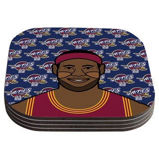 Will Wild 'Lebron James' Basketball Coasters (Set of 4)