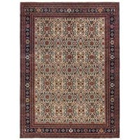 Exquisite Rugs Ferahan Ivory New Zealand Wool Round Rug - 8' x 8'
