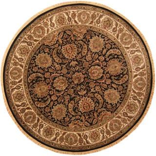 Herat Oriental Indo Hand-knotted Khorasan Wool Rug (8'3 Round)