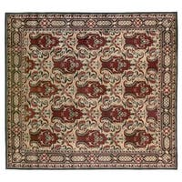 Exquisite Rugs Super Tibetan Gold New Zealand Wool and Silk Round Rug - 6' x 6'