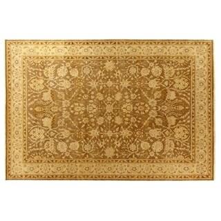 Exquisite Rugs Ziegler Sand / Beige New Zealand Wool Rug (10' x 14')