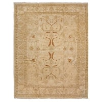 Exquisite Rugs Agra Cream / Gold New Zealand Wool Rug (9' x 12')
