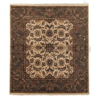 Agra Gold / Green New Zealand Wool Rug (10' x 14')