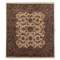 Exquisite Rugs Agra Gold / Green New Zealand Wool Rug - 9' x 12'