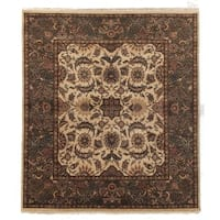 Exquisite Rugs Agra Gold / Green New Zealand Wool Rug - 8' x 10'
