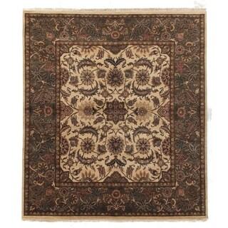 Agra Gold / Green New Zealand Wool Rug (9' x 10')