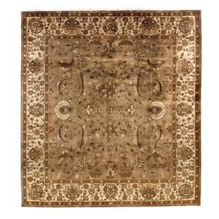Agra Grey / Ivory New Zealand Wool Rug (9' x 10')