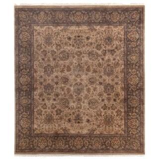 Agra Wheat / Brown New Zealand Wool Rug (10' x 14')