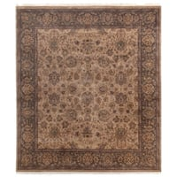 Exquisite Rugs Agra Wheat / Brown New Zealand Wool Rug (8' x 10')