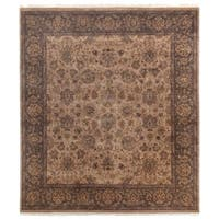 Exquisite Rugs Agra Wheat / Brown New Zealand Wool Rug - 8' x 10'