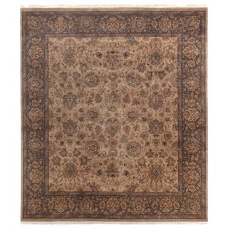 Agra Wheat / Brown New Zealand Wool Rug (9' x 10')