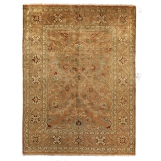Exquisite Rugs Anatolian Oushak Gold New Zealand Wool Rug (10' x 14')