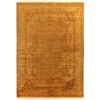 Anatolian Oushak Gold / Grey New Zealand Wool Rug (10' x 14')