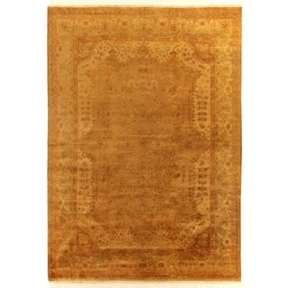 Anatolian Oushak Gold / Grey New Zealand Wool Rug (9' x 10')