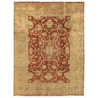 Exquisite Rugs Anatolian Oushak Rust / Gold New Zealand Wool Rug - 8' x 10'