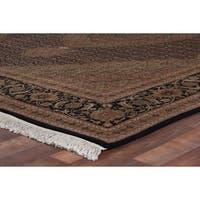 Exquisite Rugs Bijar Ivory / Black New Zealand Wool Rug (8' x 10') - 8' x 10'