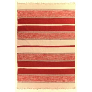 Exquisite Rugs Dhurrie Red Cotton Rug - 11'6 x 14'6