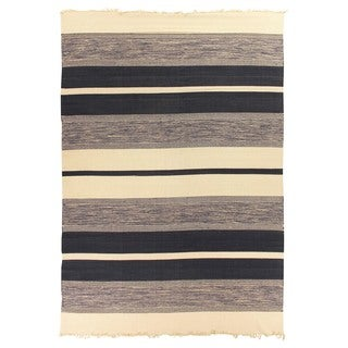 Exquisite Rugs Dhurrie Blue Cotton Rug - 11'6 x 14'6