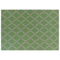 Exquisite Rugs Diamond Dhurrie Light Green New Zealand Wool Rug