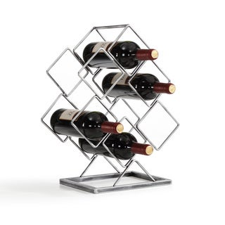 Copper Grove Cibola 6-bottle Antique Silver Electroplated Wine Rack