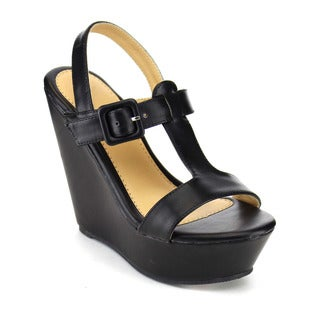 Beston Ankle Strap Platform Wedges