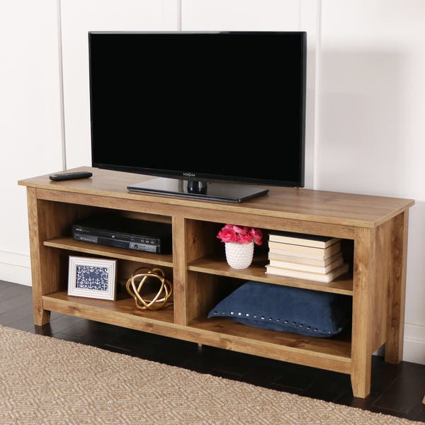 official photos f8688 acddd Shop Porch & Den Dexter Barnwood TV Stand - On Sale - Free ...