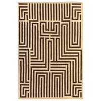 Exquisite Rugs Maze Dhurrie Ivory / Brown New Zealand Wool Rug - 11'6 x 14'6