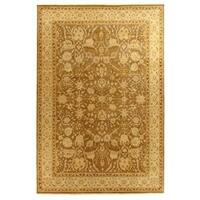 Exquisite Rugs Ziegler Sand / Beige New Zealand Wool Rug - 4' x 6'