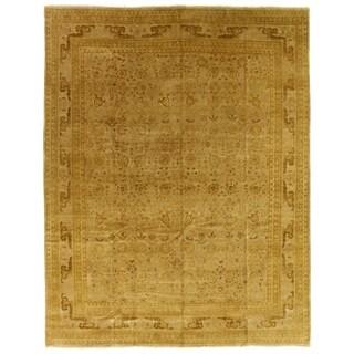 Exquisite Rugs Ziegler Brown / Beige New Zealand Wool Rug (4' x 6')