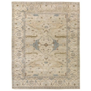 Exquisite Rugs Turkish Oushak Ivory New Zealand Wool Rug - 4' x 6'