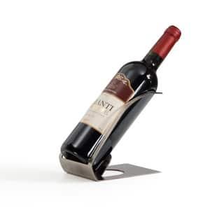 Danya B Single Bottle Elecroplated Silver Wine Holder|https://ak1.ostkcdn.com/images/products/11770564/P18683298.jpg?impolicy=medium