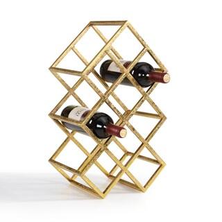Danya B Sparkling Gold 9 Bottle Wine Rack