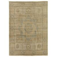Exquisite Rugs Tabriz Pale Gold / Grey New Zealand Wool Rug - 4' x 6'